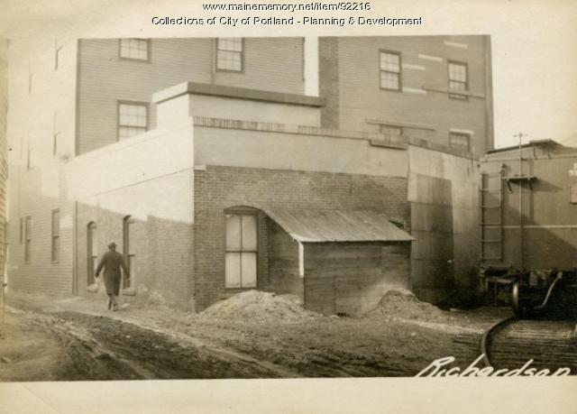 Grain Mill, Commercial Street (rear), Portland, 1924