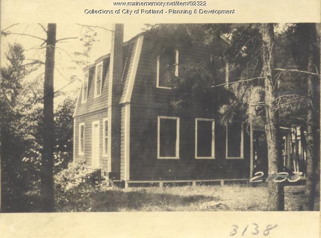 Jordan property, Fern Avenue and Beach Street, Long Island, Portland, 1924