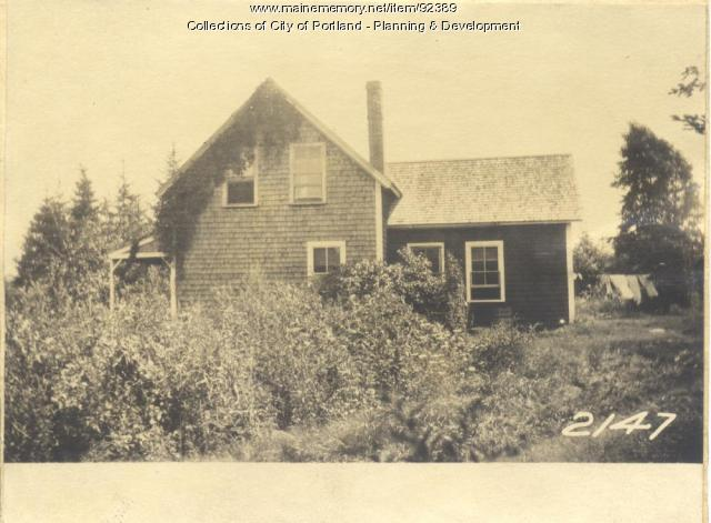Breen property, W. Side Harbor Grace Street, Long Island, Portland, 1924