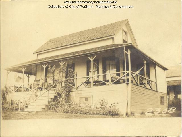 Cook property, West End Harrington Avenue, Long Island, Portland, 1924