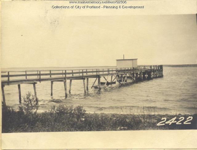 Casco Bay Lines property, Cleaves Landing, Long Island, Portland, 1924