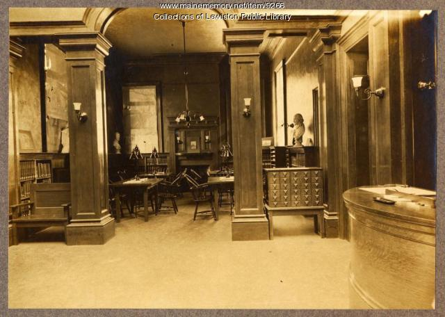 Manufacturers and Mechanics Library, Lewiston, ca. 1890