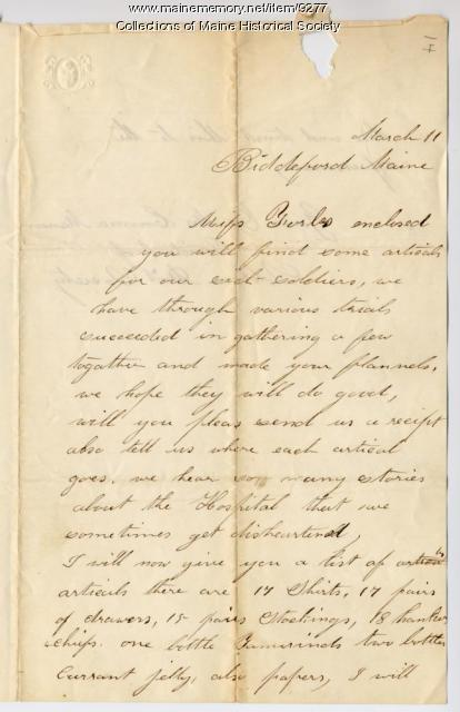 Letter from Emma Manson to Ellen Forbes, 1863