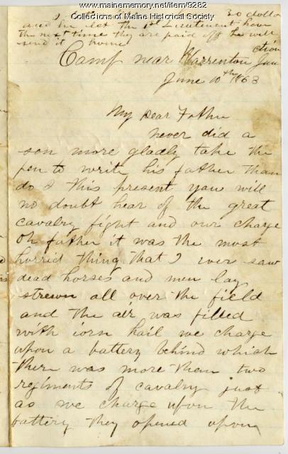 John Sheahan on Battle of Brandy Station, 1863