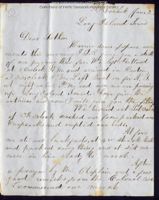 Luther Lawrence letter to brother, 1863