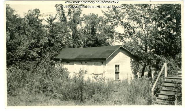 Sanborn garage, Main Street, Bridgton, ca. 1938