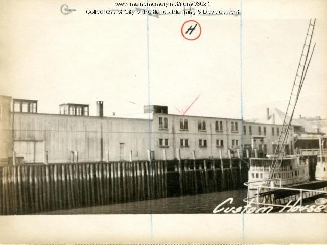 Ice Cream Plant, Custom House Wharf, Portland, 1924