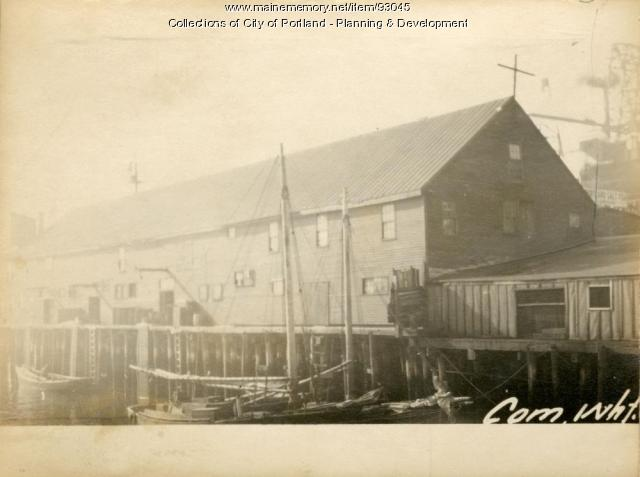 Fish House, Commercial Wharf, Portland, 1924