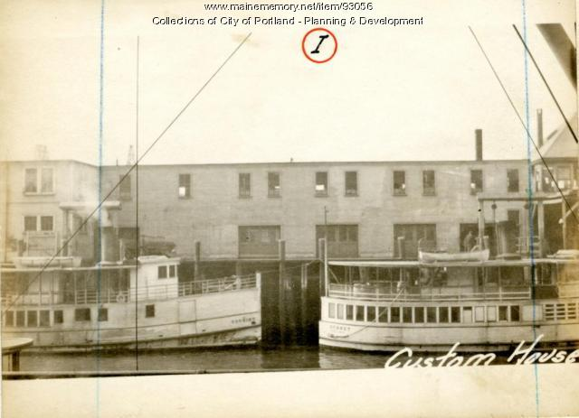 Freight House, Custom House Wharf, Portland, 1924