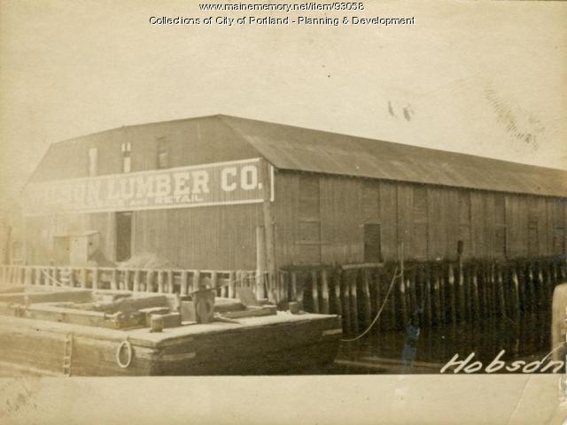 Lumber Storage, Hobsom Wharf, Portland, 1924