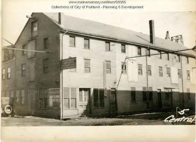 5 Central Wharf, Portland, 1924