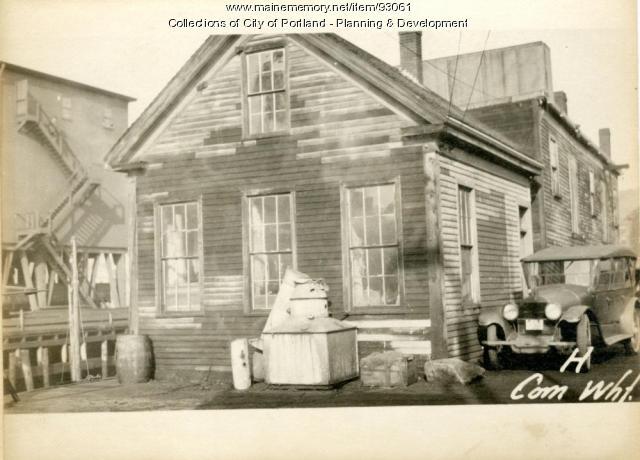 Storage, Commercial Wharf, Portland, 1924