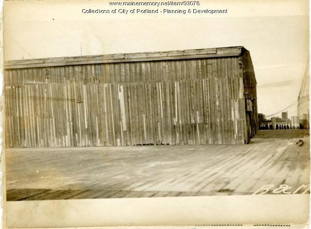 Fertilizer Building, B and M Wharf, Portland, 1924