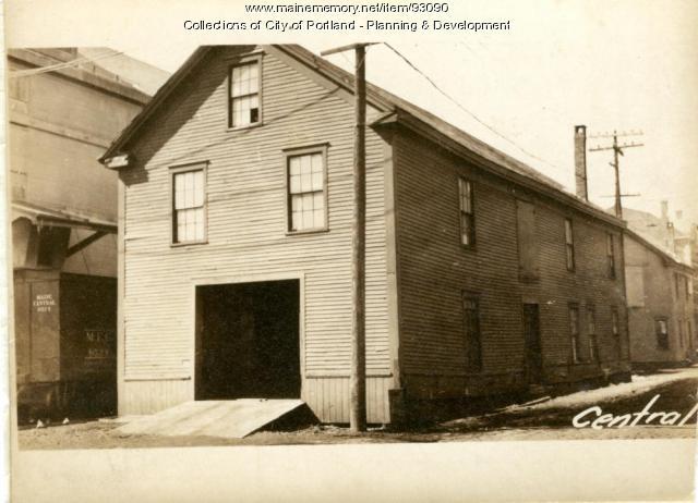 Garage, Commercial Street, Portland, 1924
