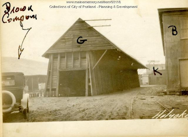 Coal Storage, Holyoke Wharf, Portland, 1924