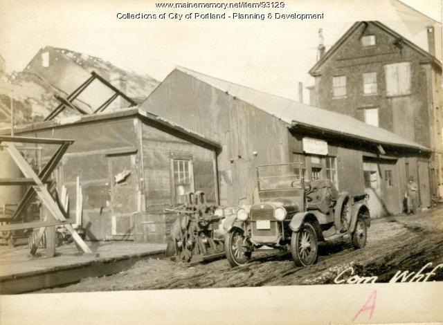 Garage, Commercial Wharf, Portland, 1924