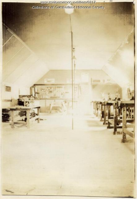 Manual training workshop, Greely Institute, 1935