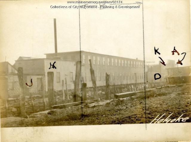 Woodworking, Holyoke Wharf, Portland, 1924