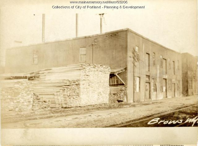 Lumber Storage and Mill, Brown Wharf Mill Building, Portland, 1924