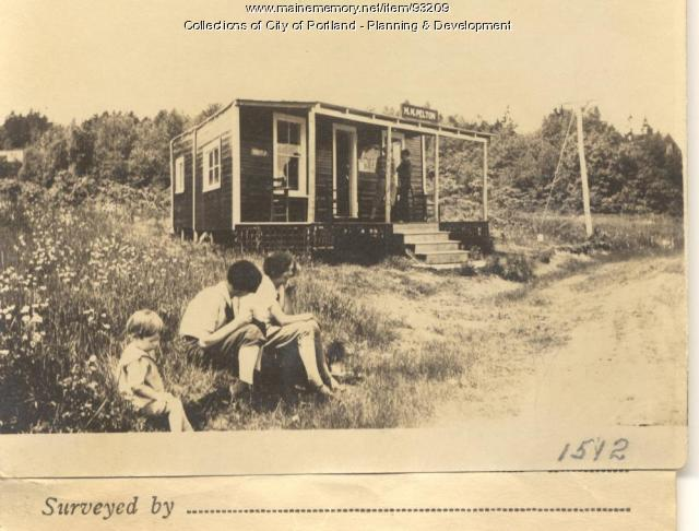 Pelton property, Seashore Avenue on Land of M.F. Blackman, Peaks Island, Portland, 1924