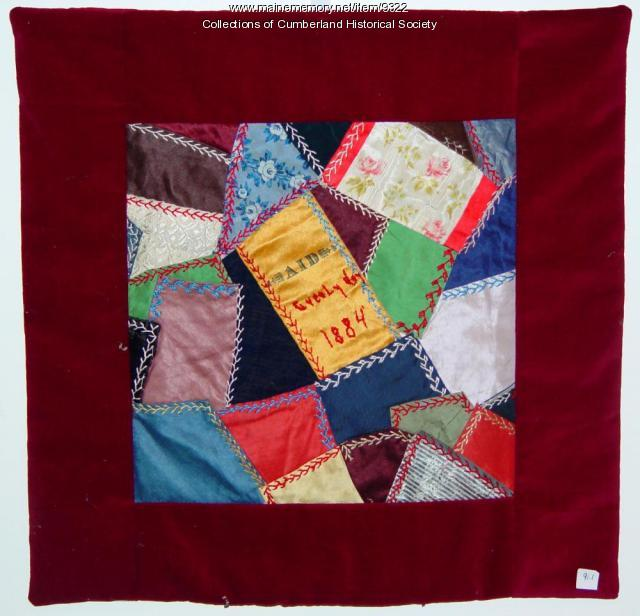 Wall Hanging from Quilt from Falmouth, 1884