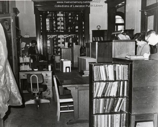Lewiston Public Library Lobby, ca. 1974