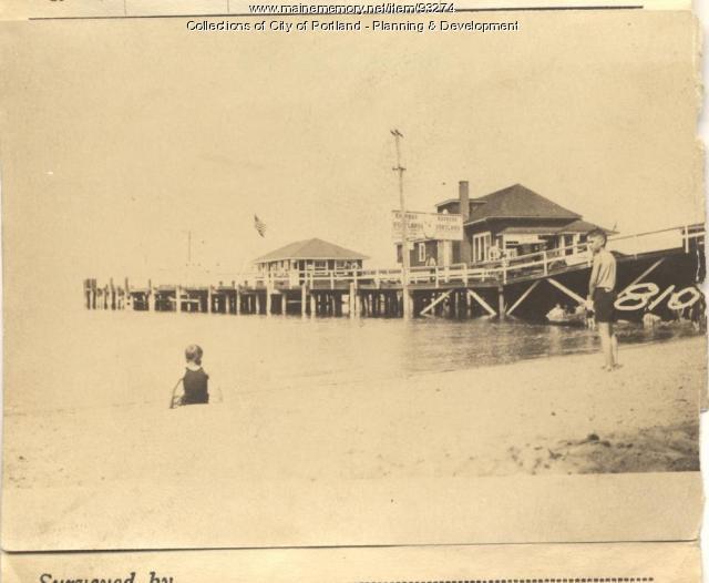 Casco Bay Wharf property, 1 Welch Street, N. Side Forest Sity Landing, Peaks Island, Portland, 1924