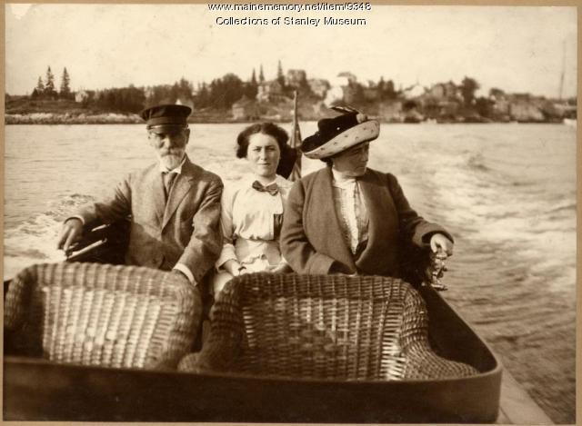 Cruising off Squirrel Island, Boothbay Harbor, 1912