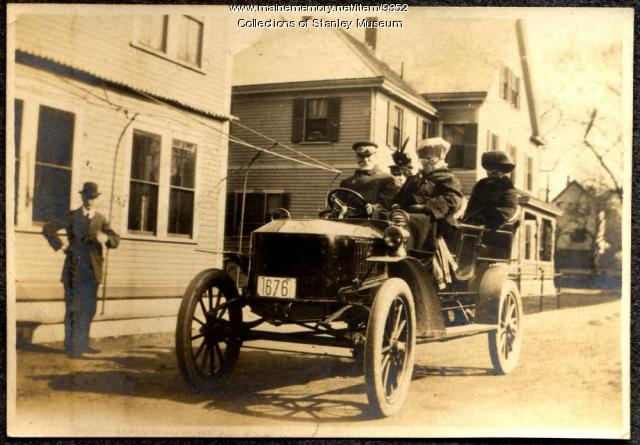 Motoring in Maine by Open Touring Car, 1908