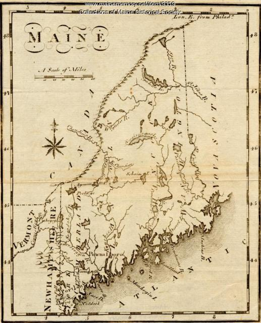 Maine, from the United States Gazetteer, 1795