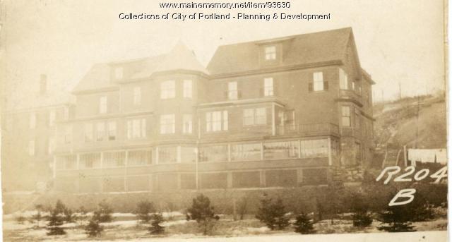 200-202 Valley Street (rear view), Portland, 1924