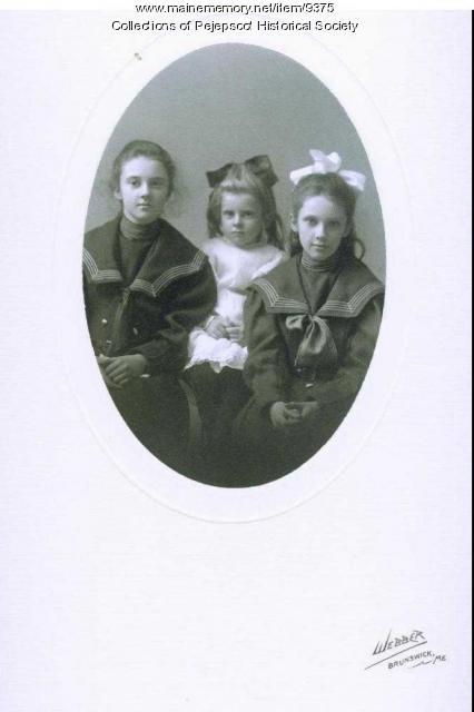 Whittier daughters, Brunswick, ca. 1905
