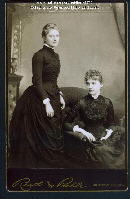 Eugenie and Augusta Marie Skolfield, Brunswick, ca. 1880