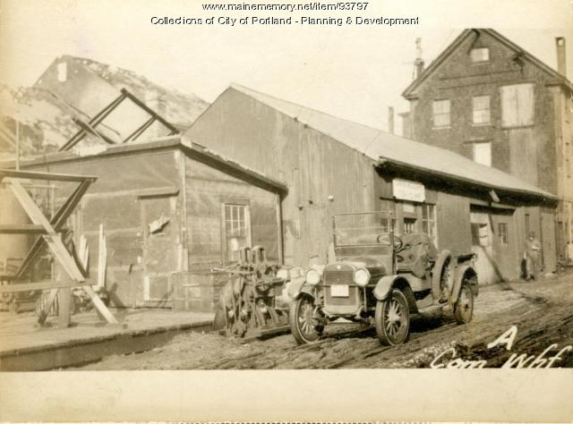 Fishermans Shack, Commercial Wharf, Portland, 1924