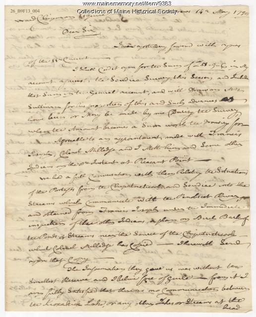 Robert Pagan to Ward Chipman, May 14, 1798