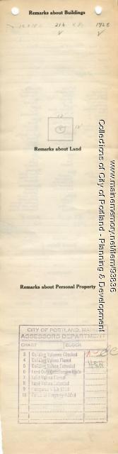 Assessor's Record, 63-65 Whitney Avenue, Portland, 1924