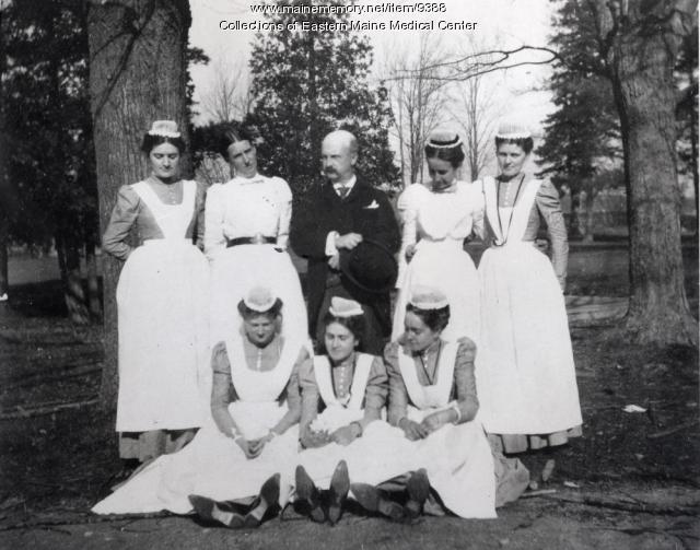Nursing students, Eastern Maine General Hospital, ca. 1898
