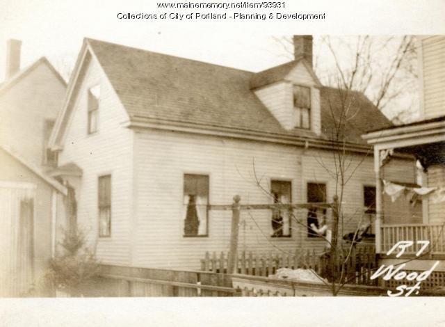 9 Wood Street, Portland, 1924