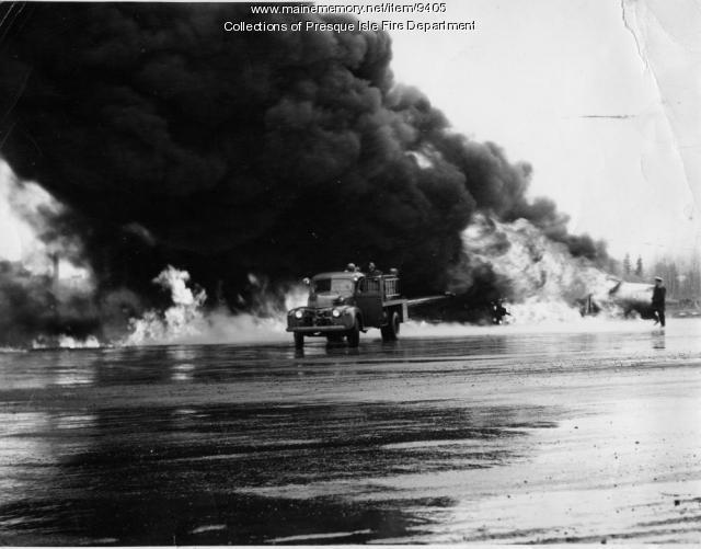 Presque Isle Air Base fire drill