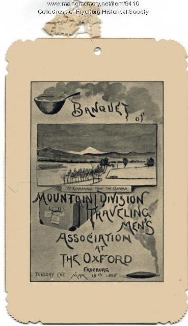 Banquet, Fryeburg, 1895