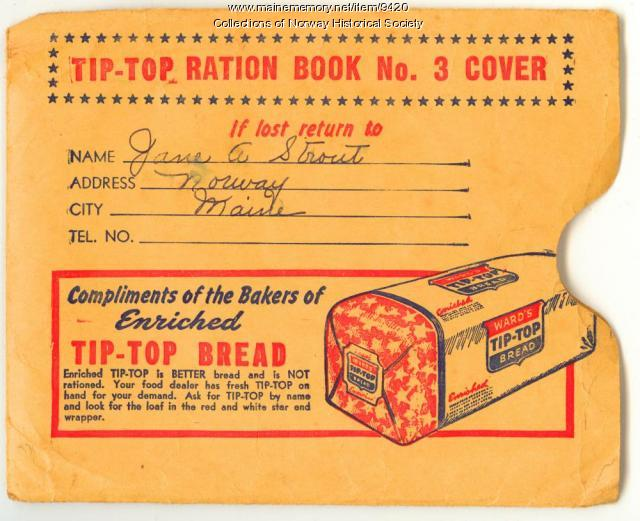Ration book cover, Norway, ca. 1943