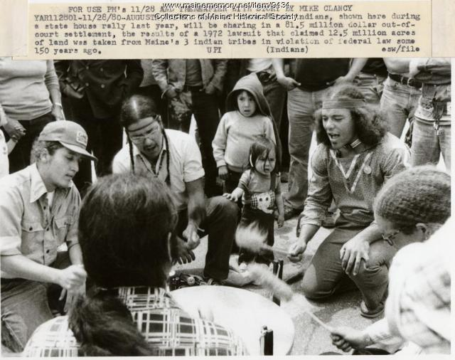 Native Americans at a rally, 1979