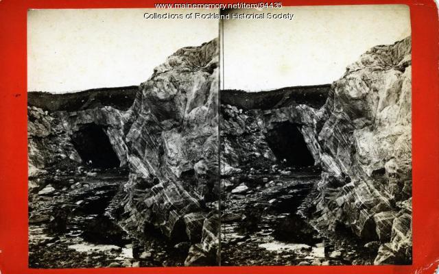 Tunnel at Achorn Quarry, Blackington's Corner, Rockland, ca. 1875