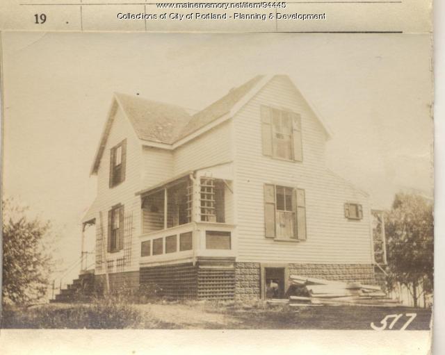 Goss property, S. Side Torrington Avenue, Peaks Island, Portland, 1924