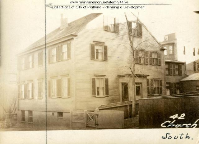 42 South Street, Portland, 1924
