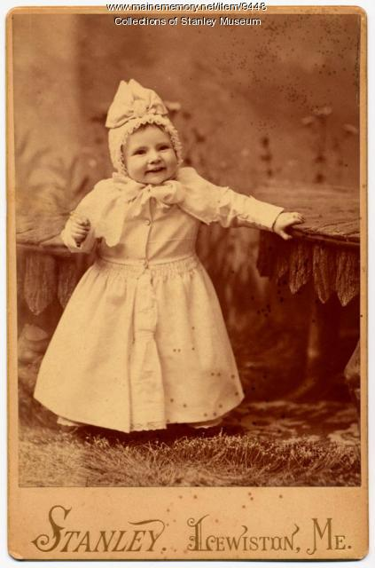 Agnes Lucille Stanley, Kingfield, ca. 1888