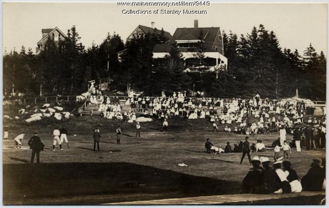 Baseball game, Squirrel Island, early 1900s
