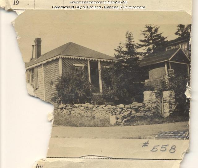 Young property, Spruce Avenue, Peaks Island, Portland, 1924