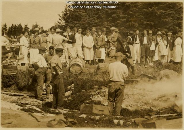 Squirrel Island Clambake, 1921