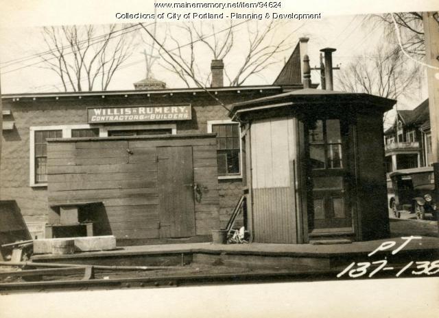 Gate Tender's house, South Side Woodford Street, Portland, 1924